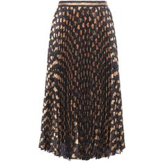 Gucci Pleated Metallic Silk-Blend Skirt (6.695 BRL) ❤ liked on Polyvore featuring skirts, gucci, bottoms, black, gucci skirt, metallic skirt, pleated skirt and metallic pleated skirt