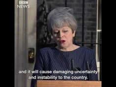 UK PM Theresa May explains why she's decided to seek an early general el...