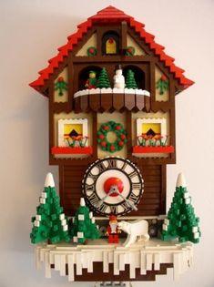Niedliche Kuckucksuhren zur Dekoration von Kinderzimmern - Weihnachtsmotiv