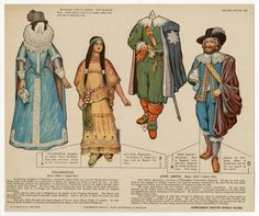 75.2111: Pocahontas & John Smith | paper doll set | Paper Dolls | Dolls | National Museum of Play Online Collections | The Strong