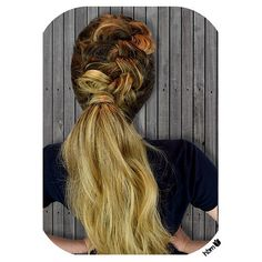 #thefreya  She liked it so much that she made me name it after her. I did a loose #dutchbraid into a seriously #teasedponytail Talk about #powerpony  #beautiful #hair #hairbymel #hbm #nz #akl #hairoftheday #instadaily #hairstyles #updo #balayage #ombre #braid #hairstyles #longhair