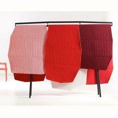 Ronan and Erwan Bouroullec - Design studio Paris Ronan & Erwan Bouroullec, Weaving Loom Diy, Motifs Textiles, Yarn Wall Art, Colour Architecture, Rectangular Pool, Audio Room, Fabric Rug, Interior Walls