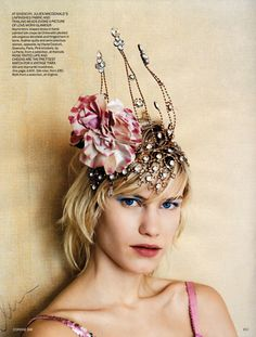 Tiaras Saint Laurent Summer 2016 via Vogue Brazil The Great Gatsby, Derby, Fascinator Hats, Fascinators, Wedding Headpieces, Millinery Hats, Circlet, Love Hat, Hidden Treasures