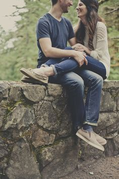 romantic woodland rustic wedding engagement shoot