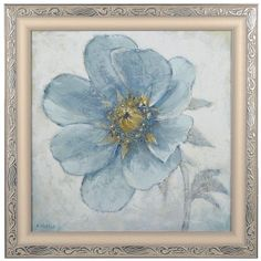 Soft Blue Poppies II Framed Art Print ($20) ❤ liked on Polyvore featuring home, home decor, wall art, glass wall art, framed wall art, home wall decor, glass home decor and framed floral wall art