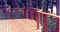 deck railing ideas | Cable Deck Railing Improves View But Doesn't Block the Breeze