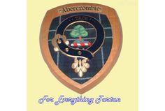 Clan Abercrombie Tartan Woodcarver Wooden Wall Plaque Abercrombie Crest 7 x 8