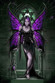 pixies and fairies | Gothic Fairies And Pixies Purple gothic fairy