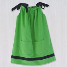 cpc Corduroy Dress with Ribbons Lime/Navy via totsy