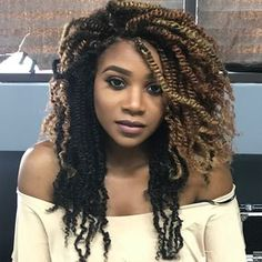 Kinky twist hairstyles are simple and convenient. Check out our great ideas and try afro kinky braids, long kinky twist braids, kinky twist updos, and more. Box Braids Hairstyles, My Hairstyle, Girl Hairstyles, Black Hairstyles, Crochet Twist Hairstyles, Marley Twist Hairstyles, Bridesmaid Hairstyles, Dreadlock Hairstyles, Hairstyles 2016