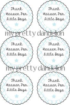 Thank Heaven For Little Boys Tag 6 by MyPrettyDandelion on Etsy, $3.00