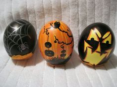 Some of my Halloween creations. Cascarones (confetti eggs). This set is one of my favs I made for Halloween. ~By Rachel Reyes