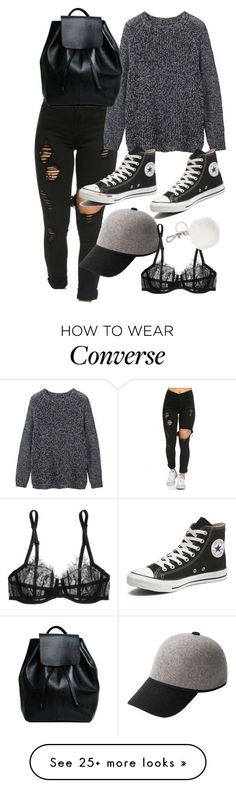 """Untitled #9061"" by katgorostiza on Polyvore featuring Toast, Converse, MANGO, La Perla, Michael Kors, women's clothing, women's fashion, women, female and woman"