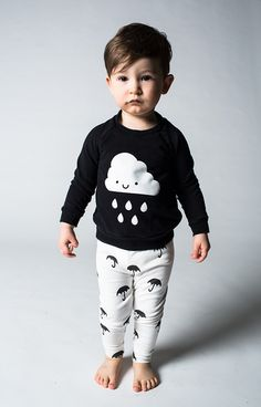Kids Kawaii Cloud Tee. How cute is this outfit! Onesies too.