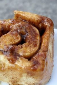 Triple glazed cinnamon buns