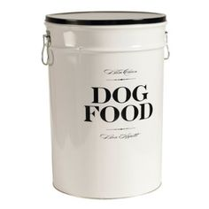 This metal canister is so cute & would look great in the kitchen!  Comes with black or apple green writing and lid, $54