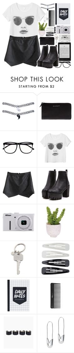 """Time-Turner"" by alexandra-provenzano ❤ liked on Polyvore featuring Wet Seal, Givenchy, H&M, Monki, Nikon, Lux-Art Silks, Paul Smith, Forever 21, Sephora Collection and Maison Margiela"