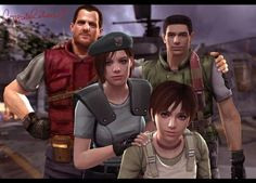 Resident Evil 1 | Jill, Chris, Rebecca and Barry