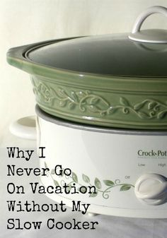 Have you ever thought about how much money you spend feeding your family on a week long vacation? Do you know that on a week long vacation a family of four can spend over $1000 on food alone. Learn how you can use a slow cooker or crock pot on your vacation to help save money on food. You will also find some tips on the best types of meals and snacks to pack for your trip. Don;t overlook this easy way to help you plan your family vacations on a budget.