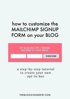 One of the best ways to promote your email list is by installing a signup form on your blog. If you're using MailChimp, this tutorial will show you how to create your own!