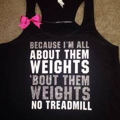 Because I'm all About Them Weights - No Treadmill - About That Bass - Ruffles with Love - Racerback Tank - Womens Fitness - Workout Clothing - Workout Shirts with Sayings