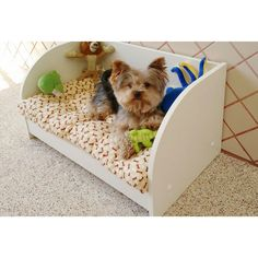 Berço Cama Pet para Cães e Gatos com colchão Pequeno Porte