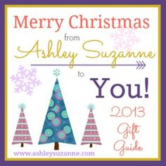 Ashley Suzanne's Giant Gift Guide Giveaway - This West Coast Mommy - It's the start of the biggest giveaway event I've ever seen! Ashley Suzanne is giving away TWO fabulous prize packs to celebrate her favourite holiday of the year! - ends 12/12