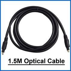 1.5m OD 2.2mm Digital Audio Optical Fiber Cable Toslink Cables