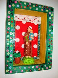 TATÁ XELICA: SANTO ANTÓNIO COM O MENINO San Antonio, Saint Anthony Of Padua, Box Art, Decoupage, Spirituality, Faith, Frame, Crafts, Diy