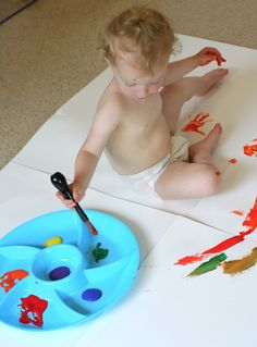 Painting with Toddlers | FUN AT HOME WITH KIDS