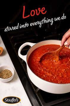A love for simple ingredients is stirred into every Stouffer's meal. From the sauce to the cheese to the pasta, each ingredient is real and wholesome – just the way you'd make it. Discover all of Stouffer's delicious meals and dig in today.