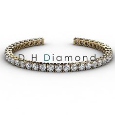 Round Shaped natural Diamond Tennis Bracelet with VVS-EF, 4.10ct, 14k White Gold, USD 5960. (IND Rs. 3,93,400/-)