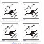 Printable Dinosaur Crossing Thank You Cards