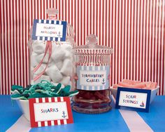 Nautical -  Food Labels / Cards - Birthday Boy - Printable - psDre Party Printables. €4,50, via Etsy.
