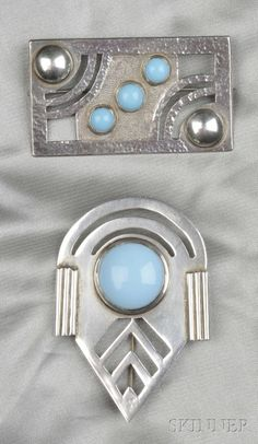 Two Sterling Silver Brooches, La Paglia | Sale Number 2550B, Lot Number 134 | Skinner Auctioneers