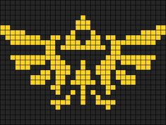 Embroidery Bracelets Patterns Triforce - Legend of Zelda perler bead pattern Minecraft Pattern, Pixel Pattern, Minecraft Pixel Art, Pixel Crochet, Crochet Chart, 8 Bit Crochet, Crochet Pattern, Cross Stitching, Cross Stitch Embroidery