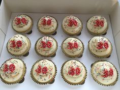 30th birthday sprinkle cupcakes