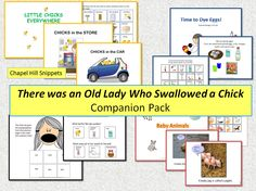 Chapel Hill Snippets: There Was an Old Lady Who Swallowed a Chick Activity/Companion Pack.  This includes egg dying step by step, two interactive books and a few pages to go along with There was an Old Lady who Swallowed a Chick