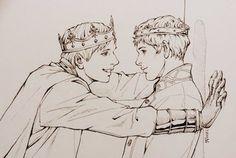 The Big Book Of Merthur - Merthur Fanart Merlin And Arthur, King Arthur, Merlin Fandom, Merlin Merlin, Merlin Funny, Merlin Memes, Narnia, Illustration Fantasy, Merlin Colin Morgan