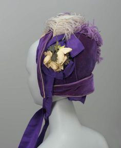 bonnet ca. 1880 via The Museum of Fine Arts, Boston