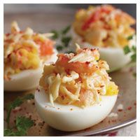 Wild Alaska Crab Deviled Eggs | Food Recipes content from Restaurant Hospitality