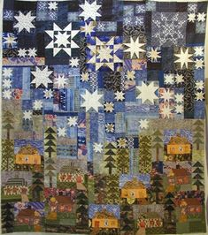 This particular Patchwork Quilts is surely an inspiring and glorious idea Star Quilts, Scrappy Quilts, Quilting Projects, Quilting Designs, Quilting Ideas, Quilting Templates, Paper Piecing, House Quilt Block, Art Tribal