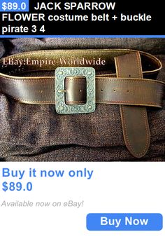 Halloween Costumes: Jack Sparrow Flower Costume Belt + Buckle Pirate 3 4 BUY IT NOW ONLY: $89.0