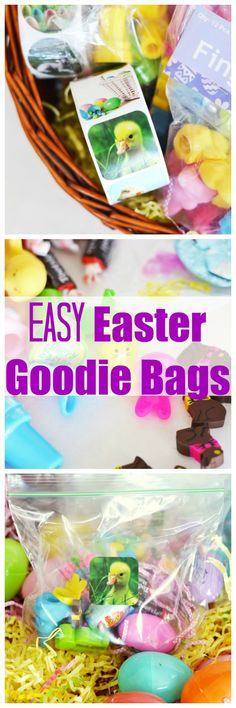 Easy Easter Goodie Bags that anyone can make! Go back to the basics with these easy to make Easter goodie bags for Easter. AD