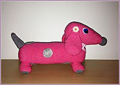 Dauschand/Weiner Dog Free Crochet Pattern  Open in browser, translate web page option.