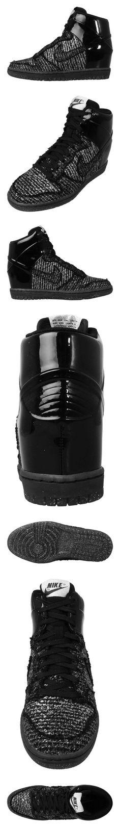 $219.95 - Nike Dunk Sky HI VT QS Womens Basketball Shoes 611908-001 Black Metallic Silver 8 M US #shoes #nike #2015