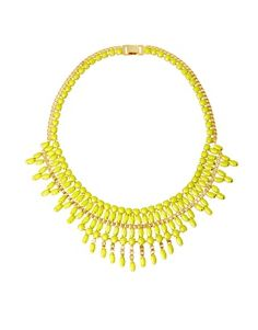 Image 1 of ASOS Opaque Stone Bib Necklace