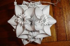 Found on Weddingbee.com Share your inspiration today! Oragami with lighting attached. Beautiful!!!