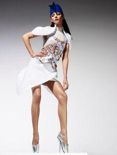 Top Model Poland 3, sesja w stylu haute couture: Marcela Leszczak, fot. Ram Shergill