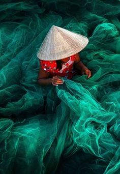 knitting fishing net ,Viet Nam